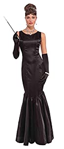 Bristol Novelty AC547 High Society - Vestido Largo para Mujer, Color Negro