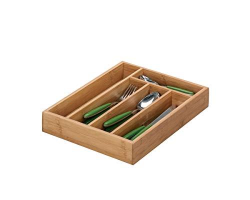 Zeller 25269 Besteckkasten, Bamboo, ca. 34 x 26 x 5 cm
