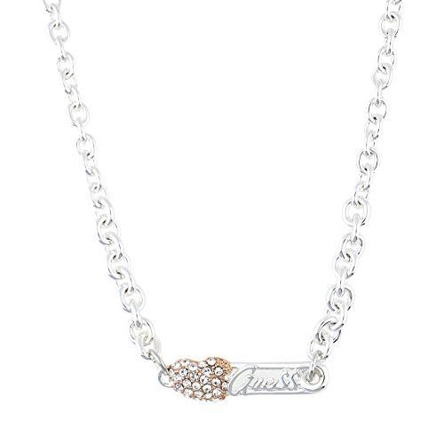 Guess Damen Halskette Metall Silber/Rosegold UBN21106