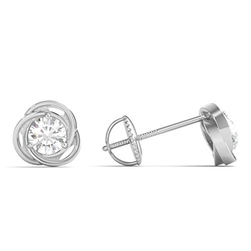 Diamond Studs Forever - Solitaire-Ohrstecker - 0,5 ct. Diamanten GH/I1 - Weißgold 14 K - 2