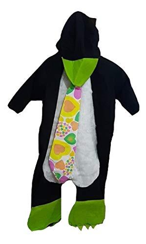 PICCOLI MONELLI Costume Neonato Pinguino Bambino 3-6 Mesi Vestito di Carnevale