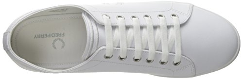Fred Perry Kingston Leather White B6237U200, Baskets Mode Homme Blanc
