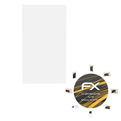atFolix Panzerfolie kompatibel mit HP Notebook 15-db0701ng Schutzfolie, entspiegelnde & stoßdämpfende FX Folie (2X)
