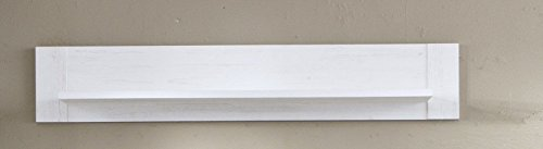 trendteam Wandboard, Holzdekor, Weiss, 20 x 135 x 24 cm