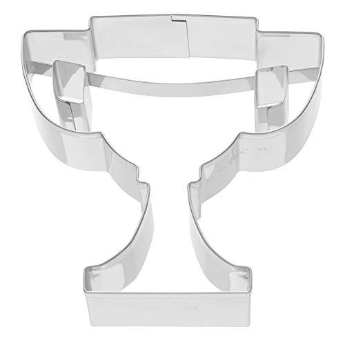Kaiser Plätzchen Ausstecher Pokal, Fußball, Ausstechform für Kekse, Edelstahl 8 x 8 x 2,5 cm