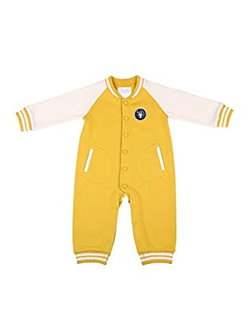 Oceankids Baby Boys Baby Girls Yellow Infant Jersey Rib Jumpsuit