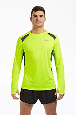 Time To Run Men's Pace Spirit Quick Dry Long Sleeved Technical Running/Gym/Workout T Shirt by time to run