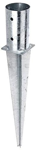 GAH-Alberts 211387 Einschlag-Bodenhülse für Rundholzpfosten - feuerverzinkt, Ø81 mm