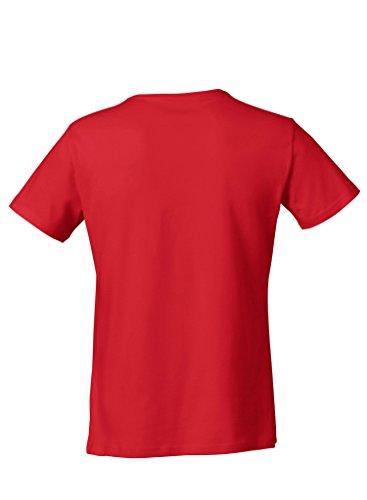 Everbasics Herren T-Shirt Sydney V-Ausschnitt - Funktionsshirt für tagelanges Tragen ohne Waschen - in Vielen Farben Erhältlich! Rot