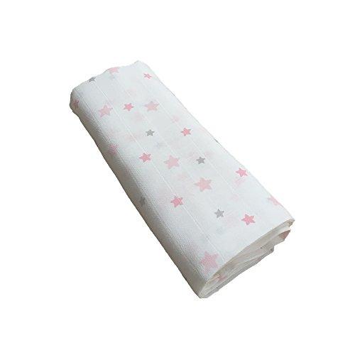 GLOOP. Lange von Baumwolle Sterne rosa 100x 100cm