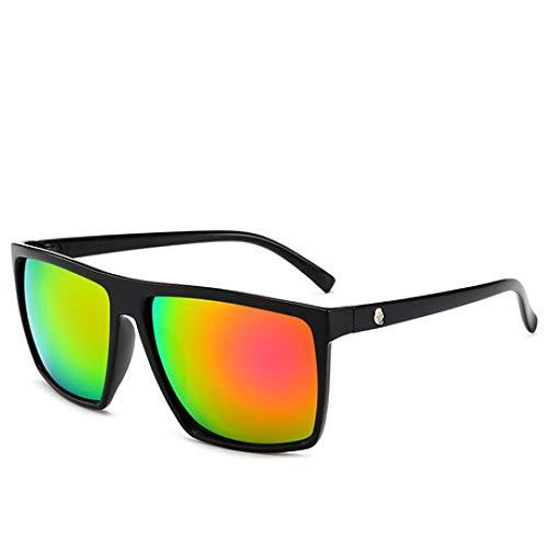 SPFAZJ Sonnenbrillen-Explosions-Kasten-Sonnenbrillen, Mode-Schädel, Bunte reflektierende Sonnenbrille