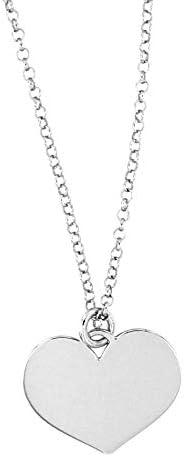 Collana con ciondolo a forma di CUORE, incisioni gratuite, in argento 925 anallergico.