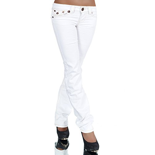 diva-jeans-jeans-jeans-boot-cut-basic-donna-bianco-w38
