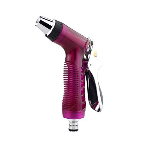 Wasserpistole Single Water Gun 4 Zubehör Kit ABS + Gummi + Metall Material zum Waschen Auto/Bewässerung Blumen/Gemüse/Reinigung von Fenstern/Boden (Rot) -