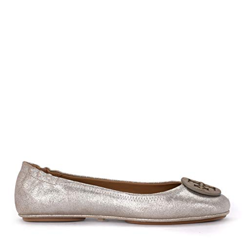Tory Burch Ballerinas Minnie Travel In Wildleder Metallic-beige