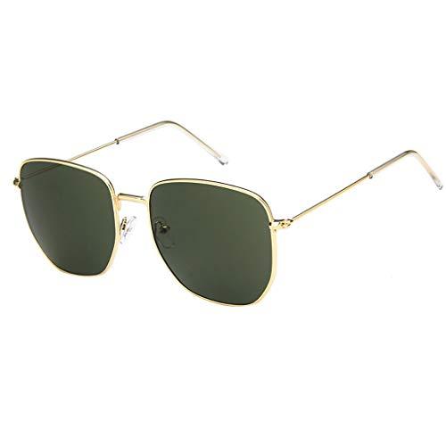 EUCoo Sonnenbrillen Rahmen Der Art- Und WeisemäNner Retro Freien Uv-Schutzr GläSer Strand Sonnenbrille