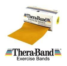 """Thera-Band GOLD 2 m (79"""") The Most Powerful Theraband Colour available now with FREE OFFICIAL WORKOUT MANUAL"""