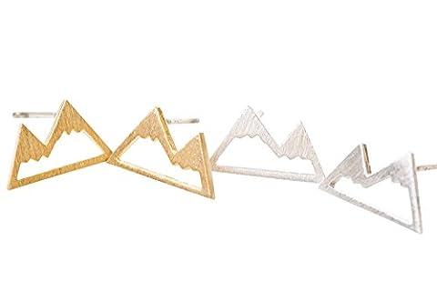 Berg Ohrringe-TL-Berg Ohrringe, Miniatur Ohrringe, einzigartig Ohrringe, täglich Ohrringe, Zucht