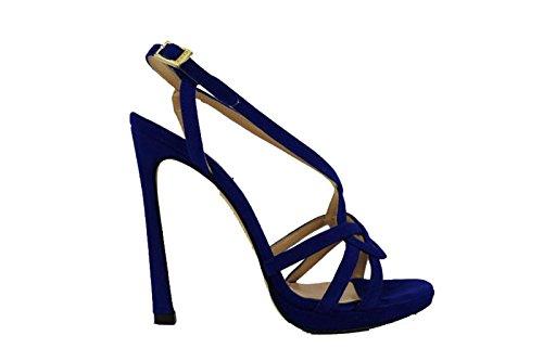 PINKO sandali donna blu camoscio AH534 (36 EU)