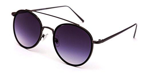 Black Round Sunglasses By THEWOOP MART | Retro Round Goggles | Flat Premium Sunglass For Men , Women , Girls ,...