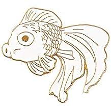 Wicemoon Broche de Pez Dorado de Dibujos Animados Broche de Cuello Para Mujer Ropa de Niña