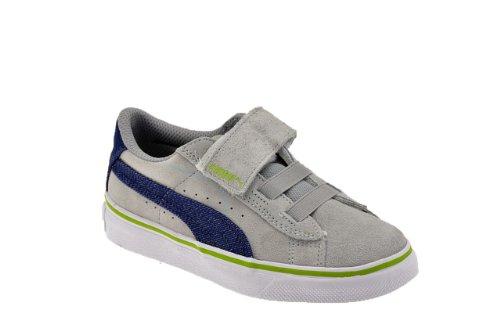 Puma V S Denim Kids Turnschuhe Neu Kinder Schuhe Grau