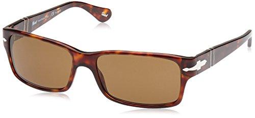 Persol Unisex PO2803S Sonnenbrille, Mehrfarbig (Gestell: havana, Gläser: braun-klar polarisiert 24/57), Large (58)