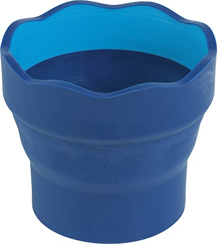 Faber-Castell 181510 - Wasserbecher CLIC & GO, faltbar, blau, 1 Stück -