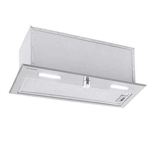 Klarstein Simplica 70 Module ventilateur, hotte encastrée, largeur 70 cm, débit d'air extrai : 400 m³/h, recirculation possible, 3 niveaux, éclairage LED: 2x 1,5 W, hotte aspirante, inox