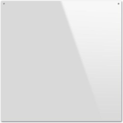 Kreul 45125 - Acrylglasplatte für transparente Glasmalerei, mit glatter Oberfläche und Bohrung zum Aufhängen, quadratisch, ca. 20 x 20 cm