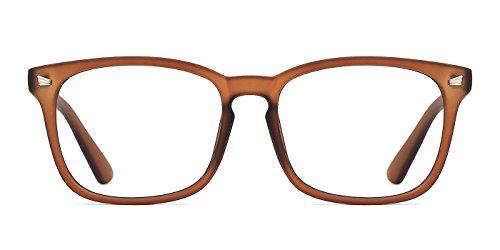 TIJN Klassische Nerdbrille Brille Ohne Sehstärke Damen Herren Optische Brillen Nicht Verschreibungspflichtige Brillengestell mit Durchsichtigen Gläsern