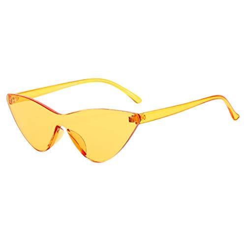 Rosennie Damen und Herren Sonnenbrille Vintage Sonnenbrillen UV-Brille Unisex Europa Trendige Runde...