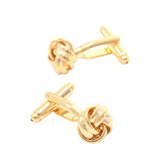 Männer Manschettenknöpfe Golden Twist Französisch Hemden Ärmel Hochzeiten Partys Geschenke,Gold-12 * 12mm