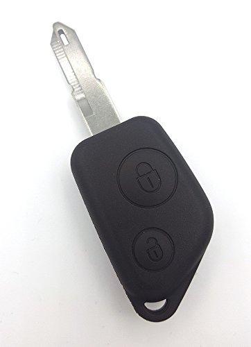 CLE PLIP Peugeot 106 206 306 205 307 405 406 2 Boutons Lame Trou