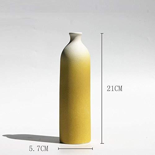Jarrón de Cerámica color amarillo mostaza.