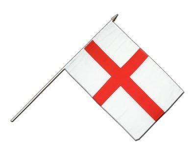 England St. George Flagge, englische Stockflagge 30 x 45 cm, MaxFlags®