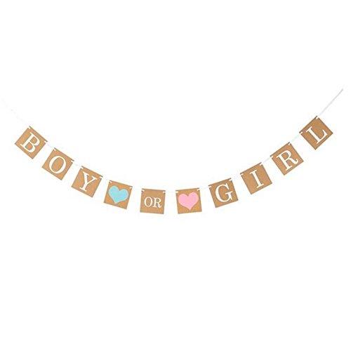 PerGrate Girlande für Jungen oder Mädchen, für Babys, Dusche, zum Aufhängen, Reveal Bunting Banner Festival Party Supplies (Baby Bunting Mädchen)