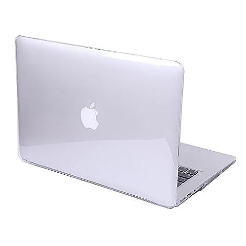 Coque Macbook Air 11.6 - Transparent Crystal Hard Case Cover Coque de Protection pour Macbook Air 11.6'' Pouces (Modèle A1465 ou A1370) Housse en Plastique Etui