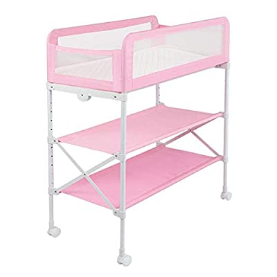 Baby Changing Table | Unit Station Dresser | Baby Changing Station with Baby Storage Organizers