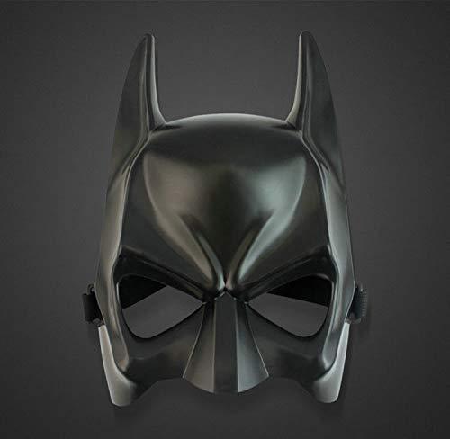 KYOKIM Batman Maske Kind Erwachsener Halloween Mottoparty Schwarze Helm Cosplay Karneva Herren Held Vollen Kopf Deluxe Replik (Batman Replik Kostüm)