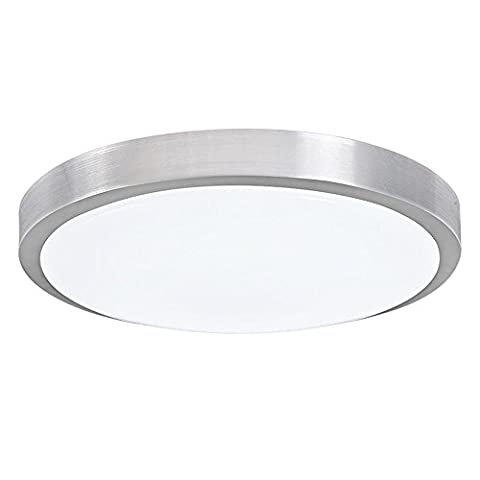 Round Alloy Modern Flush Mount Acrylic Lampshade Ceiling Light for Bedroom Living Room 12.8 inch