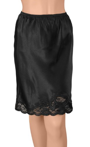 Gemsli Damen Unterrock 30 Inches Black