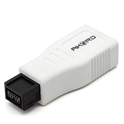 Akord FireWire Adapter, 1 x Firewire (800) Stecker, 9-polig; 1 x Firewire Buchse (400), 6-polig; Weiß