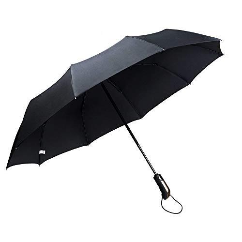 massway Regenschirm Taschenschirm, Kompakt Windsicher Faltbar Schirm Wasserabweisende Automatische Open&Close, Nano Teflon-Beschichtung mit 10 Stabil Legierung Ribs - inkl. Schirm-Tasche
