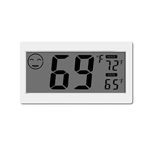 Termometro digitale Igrometro per interni Misuratore di umidità per ambienti con schermo grande Stand per appendere a muro Magnete per cucina Magnetic Greenhouse Car