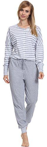 Be Mammy Damen einteiliger Still Schlafanzug BE20-130 (Melange, XXL)
