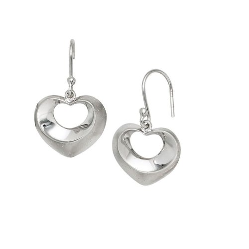 erz Ohrhänger 925 Sterling Silber Damen Ohrringe teilmattiert (Designer Modeschmuck Sale)