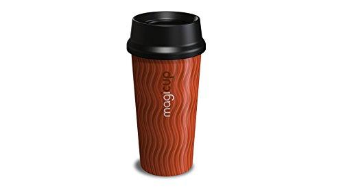 Ouverture Mug, Plastique, Rhythm Orange, 6.5 x 6.5 x 19 cm