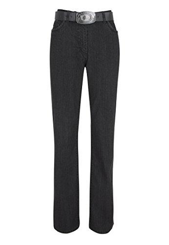 WomensBest Damen Bootcut Jeans Lindau W38 L30, black denim -