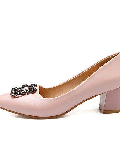 WSS 2016 Chaussures Femme-Bureau & Travail / Habillé / Soirée & Evénement-Noir / Bleu / Rose / Blanc-Gros Talon-Talons / Bout Arrondi-Talons- blue-us9 / eu40 / uk7 / cn41
